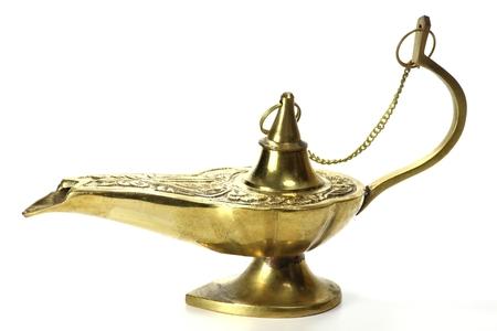 jinni: magic lamp isolated on white background