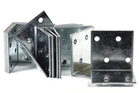 mounting holes: right angel brackets isolated on white background
