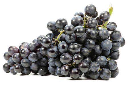 mellowness: grapes variety Muscat Bleu isolated on white background