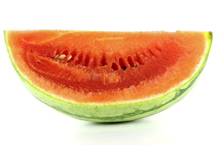 mellowness: watermelon isolated on white background