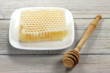 honey comb: breakfast with comb honey