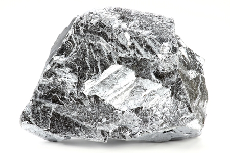 chromium isolated on white background Stockfoto