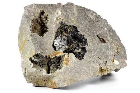 nestled: herkimer diamond nestled in bedrock Stock Photo
