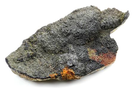 Uraninit in Oberschlema Erzgebirge Deutschland gefunden isoliert auf weißem Hintergrund Standard-Bild - 52955515