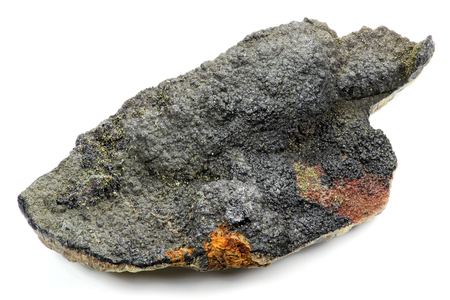 artefacts: uraninite found in Oberschlema Ore Mountains  Germany isolated on white background