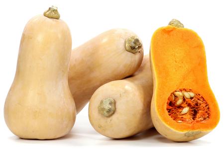 Butternut-Kürbis isoliert auf weißem Hintergrund Standard-Bild