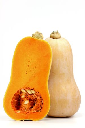 butternut: butternut squash isolated on white background