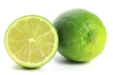 mellowness: limes isolated on white background