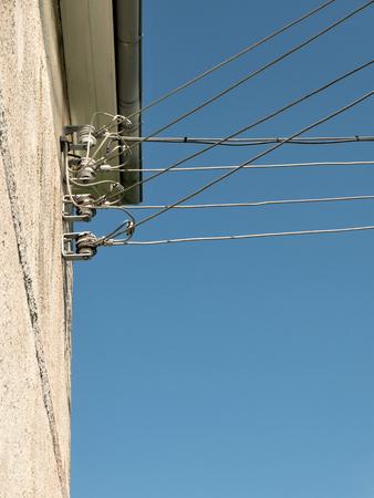 powerline: powerline at old transformer tower