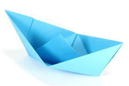 paper boat: paper boat isolated on white background Stock Photo