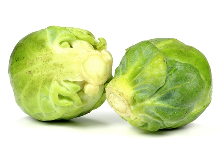 brussels sprouts isolated on white background Banque d'images