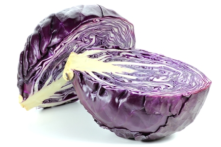 mellowness: red cabbage isolated on white background Stock Photo
