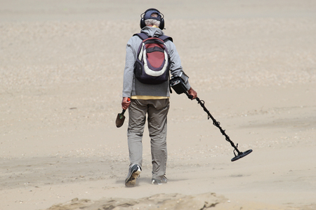 seeker: man with metal detector