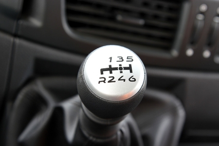 gearstick: gear shift in a modern light truck