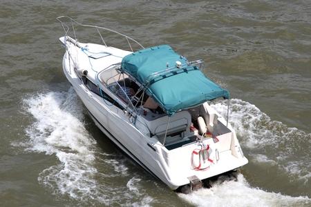 motorboat: motorboat on river