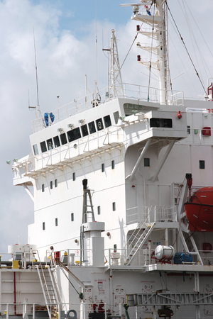 superstructure: superstructure of oceangoing ship