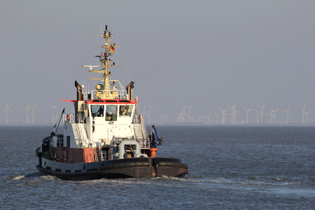 stay on course: harbor tugboat