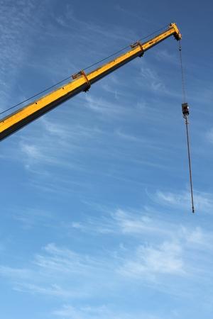 telescopic: telescopic crane against blue sky