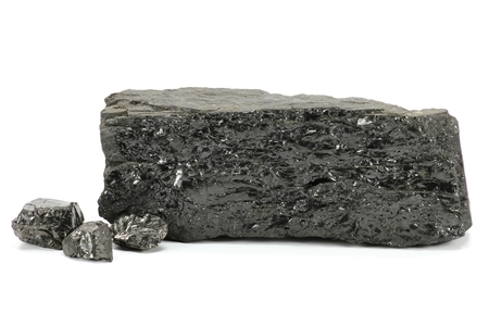 ruhr: coal Extracted from German Ruhr district coal mine isolated on white background
