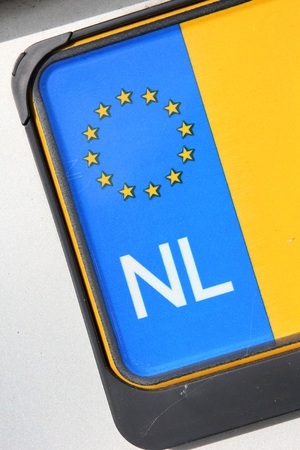 numberplate: country identifier of EU car registration plate: Netherlands