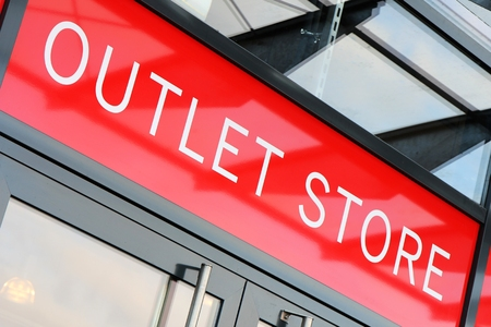 outlet store: entrance of an outlet store