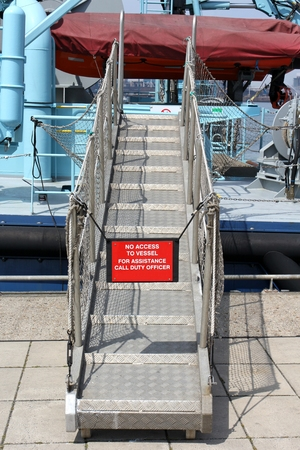 gangway between quay and ship