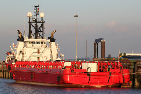 platform supply vessel Stock Photo