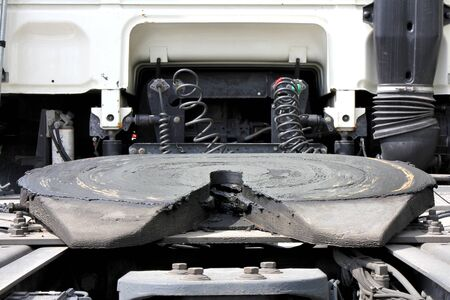 forwarding: fifth wheel on a tractor unit Stock Photo
