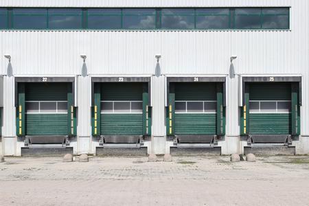 sectional door: loading ramps Stock Photo