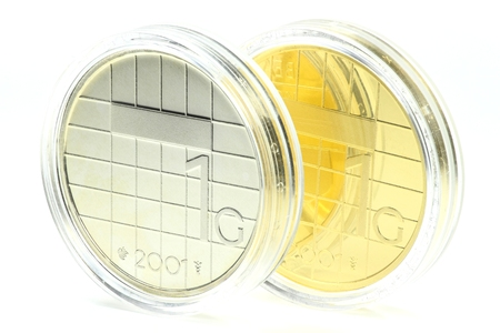 encapsulated: special gold and silver issues of the Dutch Guilder 1 coin