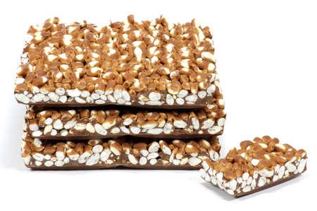 calory: puffed rice chocolate isolated on white background Stock Photo