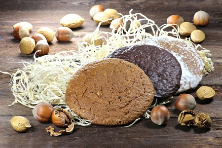 christmas baker's: gingerbread made in Nuremberg Nuremberg is a city in Germany and well-known for its gingerbread skilled crafts and trades