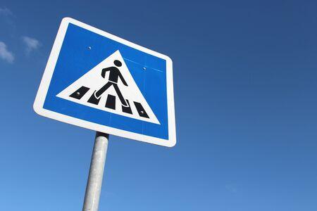crosswalk: German road sign: crosswalk