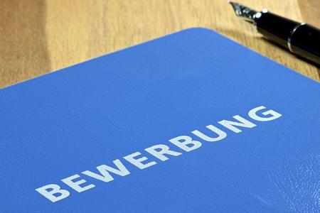 dossier de demande d'emploi allemand Banque d'images