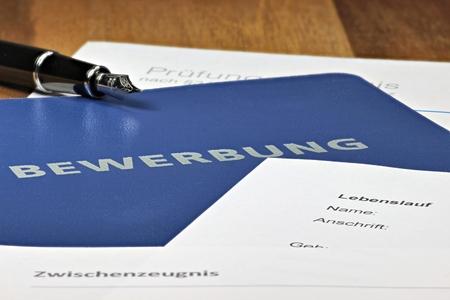 solicitation: German job application file