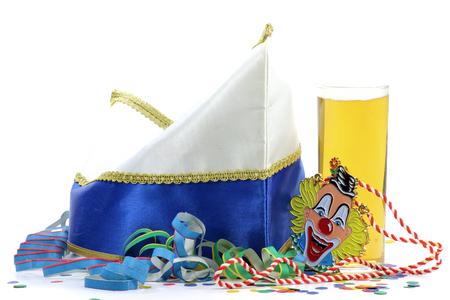 dunce cap: Cologne Carnival equipment on white background