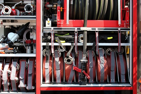 fire engine: equipment of a modern fire engine