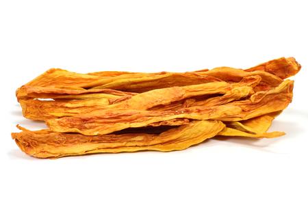 papaw: dried papaya isolated on white background