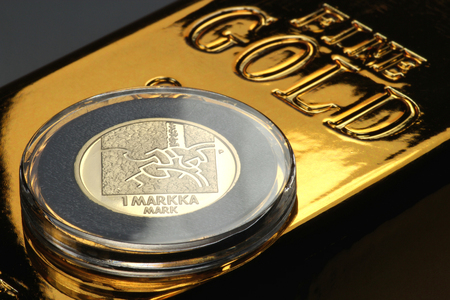 special gold issue of the Finnish markka coin