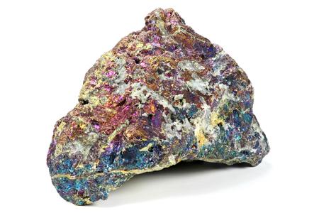 sulfide: bornite isolated on white background Stock Photo