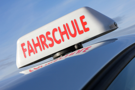 driving school: German driving school car roof sign (official German road sign, not a protected trademark)