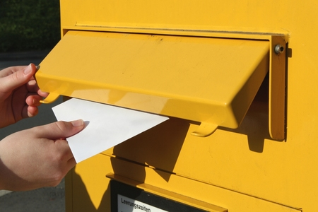 posting of a letter Stock Photo - 54265892