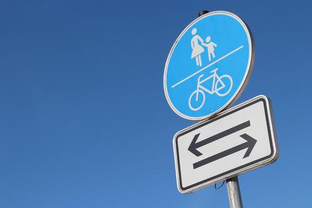 bikeway: German road sign: Shared use path