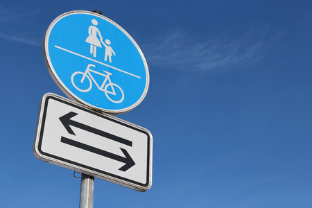 shared: German road sign: Shared use path