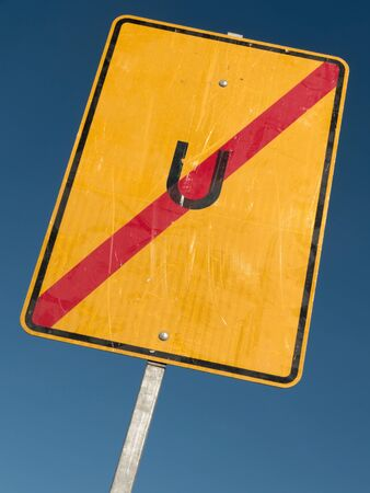 diversion: German road sign: end of diversion Stock Photo