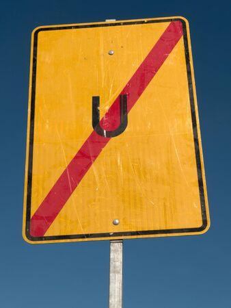 diversion: German road sign: end of diversion Stock Photo