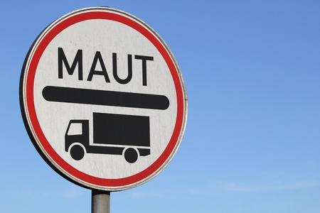 toll: German road sign: toll road