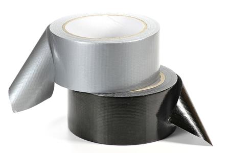 duct tape op een witte achtergrond Stockfoto