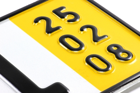 validity: validation date of a special temporary plate for vehicles in Germany