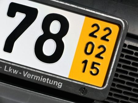 validity: fecha de validaci�n de una placa especial temporal para los veh�culos en Alemania